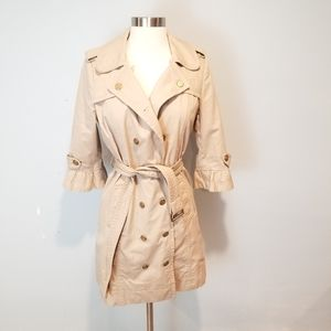 Juicy Couture Women's Trench Coat Khaki Size S